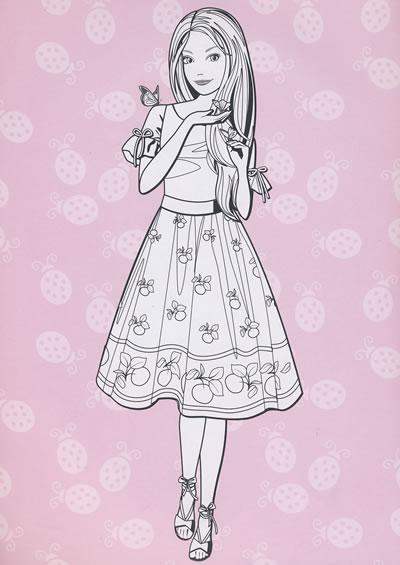 黑白动漫手绘图公主