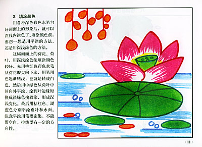 儿童彩色水笔画.植物