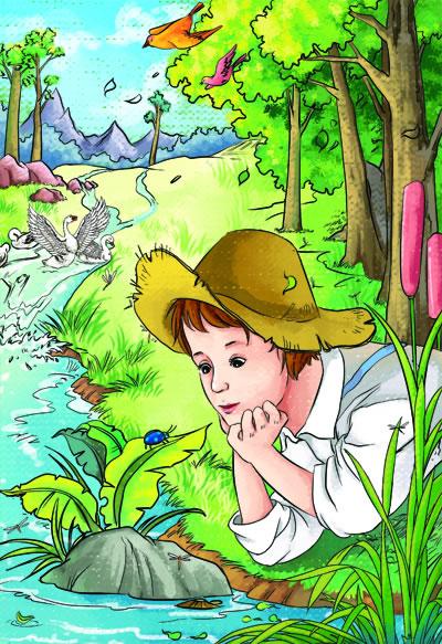 法布尔小时候图片-昆虫记 彩插版 语文新课标必读丛书 无障碍阅读 励