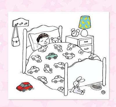 床怎么画简笔画的步骤