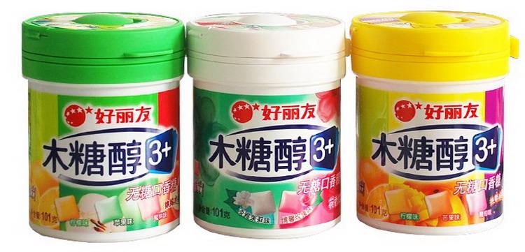 商品木糖醇是用玉米芯,甘蔗渣等农业作物中,经过深加工而制得的,是一