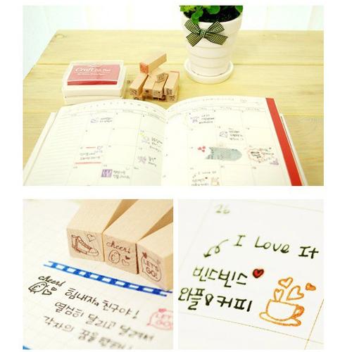 韩国进口可爱日记印章25个日记也需要表情