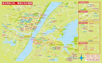 武汉旅游景点分布