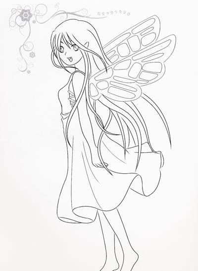 神秘仙子:百变少男少女涂色内赠贴纸和彩笔