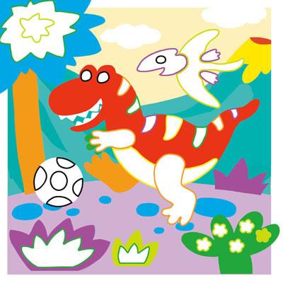 DIY立体小贴画恐龙世界 小贴画有大智慧 每本赠送六种颜色超过200张