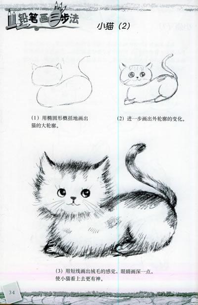 儿童素描动物画