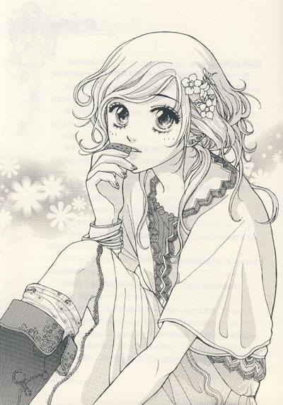 可爱娃娃脸铅笔画