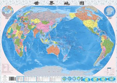 中国地图·世界地图套装二合一[当当]